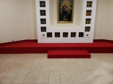 Układanie wykładziny w obiektach sakralnych